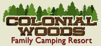 Colonial Woods Family Camping Resort Logo