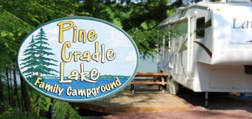 Pine Cradle Lake Family Campground Logo